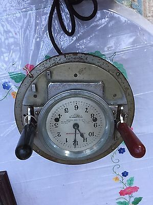 Antique / Vintage Clock Driver Calculagraph Hanover Nj Very Good