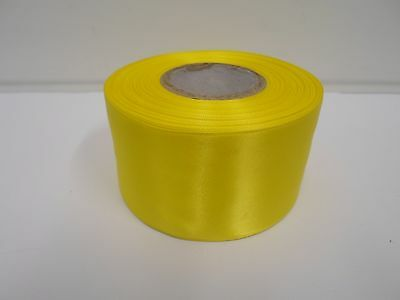 3mm 7mm 10mm 15mm 25mm 38mm 50mm CANARY BRIGHT YELLOW Satin Ribbon double sided