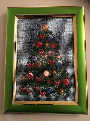 Embroidery Picture - Christmas Tree - Beadwork