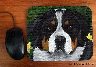 MOUSE PAD GREATER SWISS MOUNTAIN DOG PIPER  BY  Amy Bolin