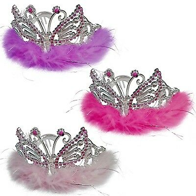 Butterfly Princess Tiara Crown - Girls Costume Party Fancy Dress Up