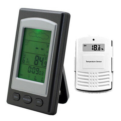 WH1281 Wireless Weather Station Barometer In Out Thermometer with Outdoor sensor