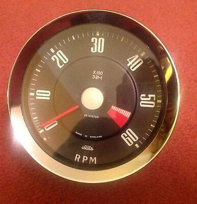 """Jaeger 4"""" Revcounter , Mechanical, ROOTES 3.21:1 RECONDITIONED"""
