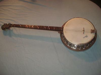 Vintage Paramount Wm. L. Lange Style A Banjo with Case 1920's