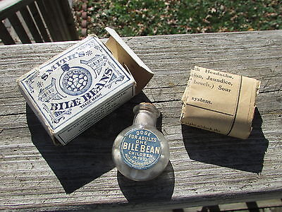 Antique QUACK MED 1900s SMITH'S BILE BEANS Unopened W/ORIGINAL Box - WHAT A FIND