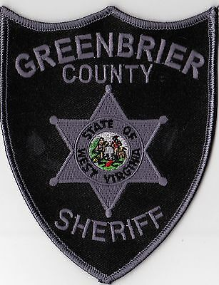 Greenbrier County Sheriff Police Patch West Virginia WV NEW!!