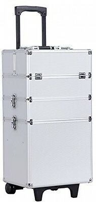 Cosmetic Case Aluminium Cosmetics Cases Beauty Vanity MakeUp Organiser Trolley