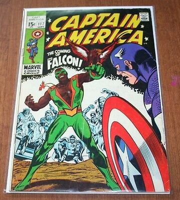 Captain America 117 first FALCON 1st print KEY issue