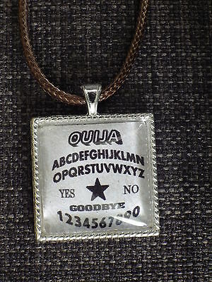 Ouija Board pendant & necklace. Spirit, Supernatural, Psychic. Free post