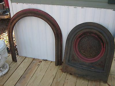 Antique Cast Iron Victorian Fireplace Surround Summer Cover Arched Great shape