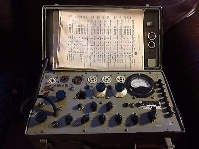 Vintage Hickok Military TV-7/U Tube Tester - tested and working!