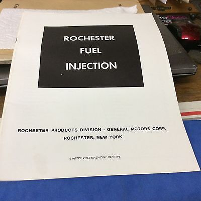 Rochester Fuel Injection service manual.