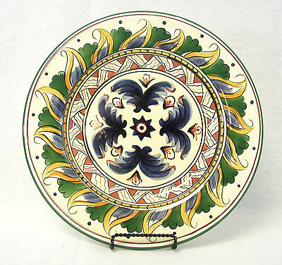"""Tabletops Unlimited - Deruta Hand Painted Dinner Plates 11"""" EUC"""