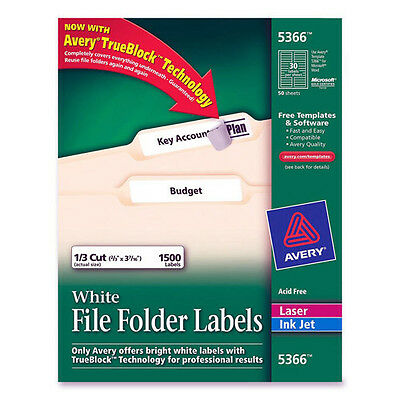 Avery (5366) File Folder Labels for Laser and Ink Jet Printers with TrueBlock