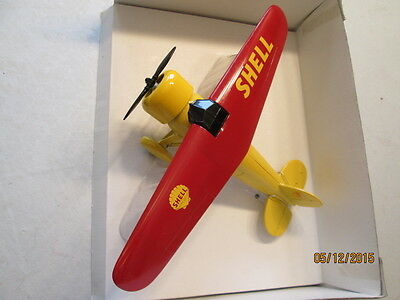 Die Cast Shell Vintage Airplane Coin Bank Limited Edition #5 in Series