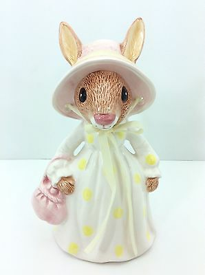 "Vintage LEFTON CHINA Hand-Painted ""Mrs. Bunny"" Bank KMY 04909 Korea"