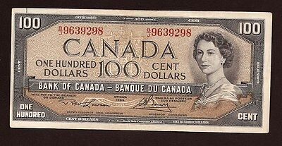 1954 'Modified' Bank of Canada One Hundred Dollar ($100) Banknote