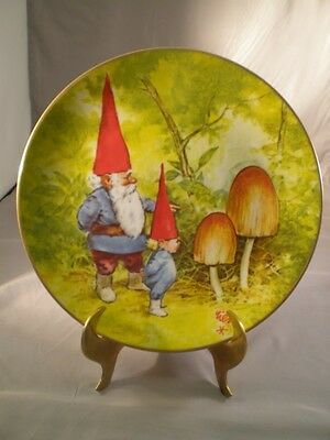 Rien Poortvliet Plate Gnome Knowledge Gnomes Four Seasons Spring