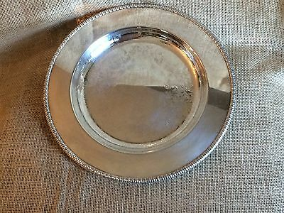 "10"" Silverplate Tray, Plate or Charger, Wide Engraved Edge - Entertaining"