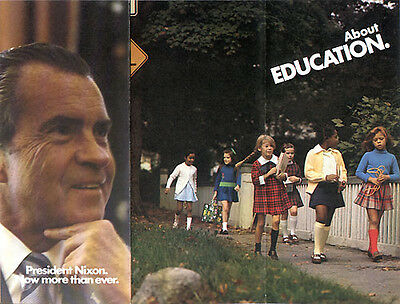 Official 1972 Reelect Richard Nixon Campaign Brochure EDUCATION (1447)