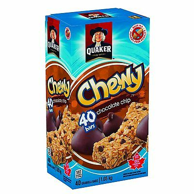 Quaker Chewy Chocolate Chip Granola Bars, 40-Count {Breakfast & Cereal} XMCH,CXX