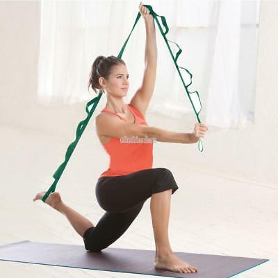 Multi-use Stretch Out Strap Gym Fitness Yoga Resistance Bands + Exercise Booklet