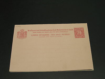 Netherlands Indies old mint double postal card *11099