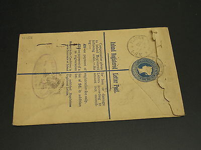 UK 1888 registered stationery cover to germany *12158