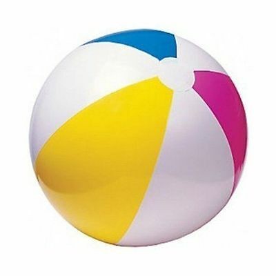 """24"""" Inflatable Blow Up Panel Beach Ball Holiday Swimming Pool Party Toy,new"""