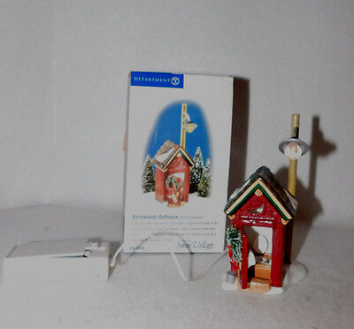"""Department 56 North Pole Series Accessory """"backwoods Outhouse""""  55036 Mib"""