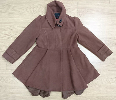 NEXT girls jacket coat age 5-6 years brown