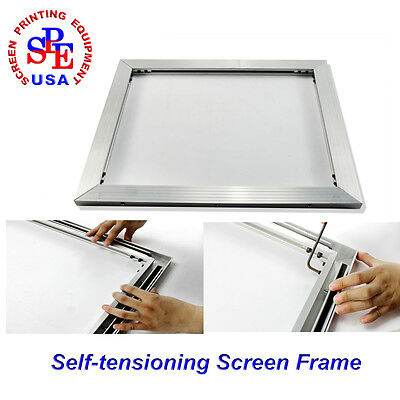 Self-Tensioning Screen Frame Can Make ANY Size Screen Frame without glue stretch