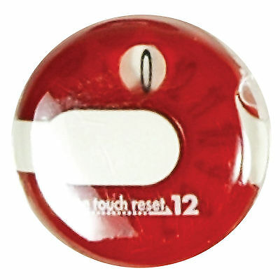 Golf Stroke Counter One Reset Hand Number Clicker Score Portable red