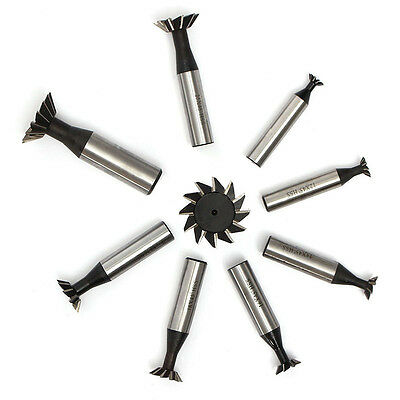 10-35mm 45 Degree HSS Dovetail Cutter End Mill High Speed Steel Milling Tool