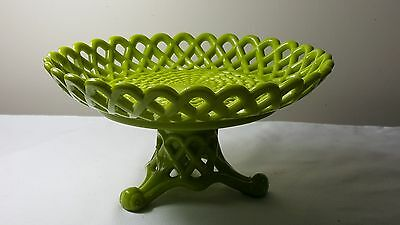 Rare Sowerby glass aesthetic green 8 inch cake stand