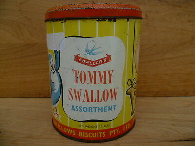 Vintage Old Large Size 'swallows' Advertising Biscuit Tin (C10)