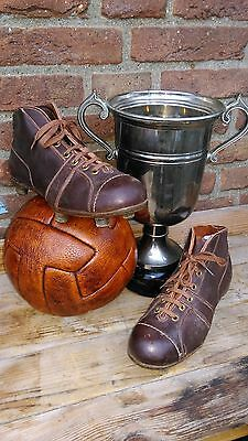 antique vintage leather football shoes ,soccer shoes with leather cleats ,