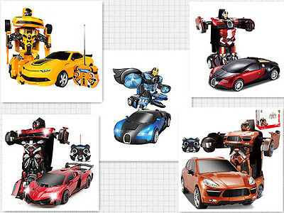(New) Transformers RC Remote Control Deformation Robot Toy Car