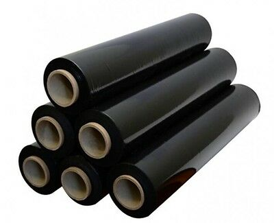 6 PALLET WRAP STRETCH SHRINK WRAP CLING film 400mm X 250M X 17MU quality BLACK