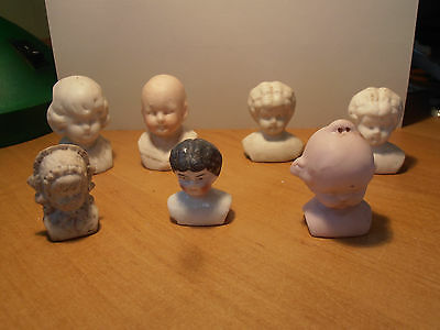 7 antique German china doll shoulder heads germany 1900 Katzhuette/Thuringia