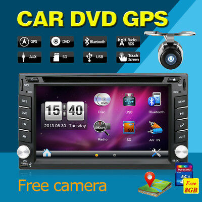 100% New universal Car Radio Double 2 din Car DVD Player GPS Navigation In dash