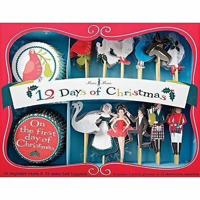 Twelve Days of Christmas Cupcake Kit, 24 Baking Cases & Toppers