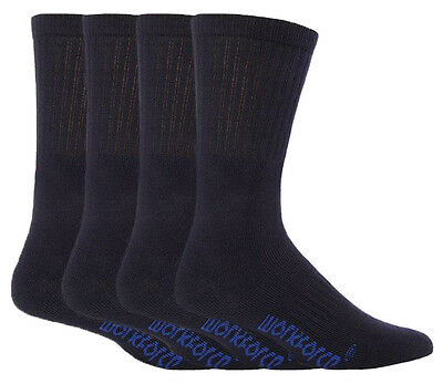 Workforce - 4 Pack Men Cushioned Padded Work Boot Socks with Arch Support WFH377