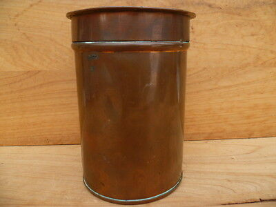 Vintage Old Large Size Copper Ware Kitchen Canister, Container (C41)