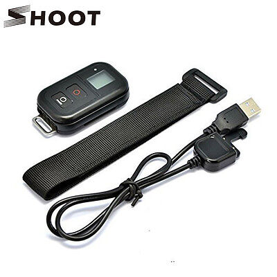 Wireless Remote Control+Charging Cord+Wrist Strap f GoPro Hero+LCD 5 5S 4S 4 3+3