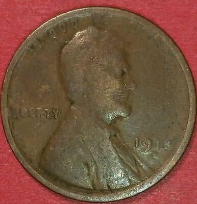 1918 Denver Mint Lincoln Wheat Cent   ID #4-4