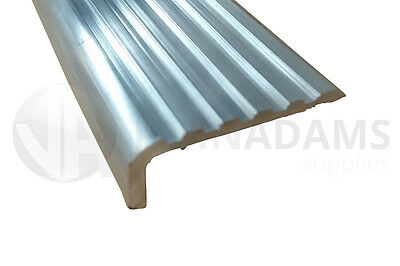 Aluminium Lipped Tread Stair Nosing Edge Cover 2.5mtrs 8ft Trim Moulding Step