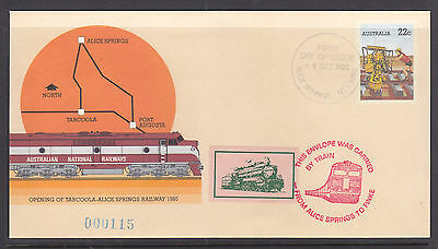 Souvenir Cover: 1980 Carried By Train Alice To Finke  Limited Edition