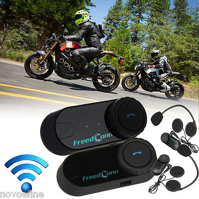 2x 800m Motocicleta Bluetooth Auricular Moto Interfono BT Intercomunicador Casco