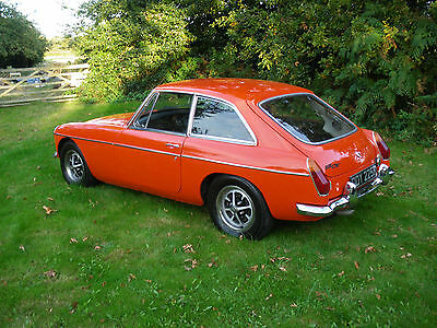 MGB GT, 1972, Chrome Bumpers, Tax Exempt, Overdrive, Gold Seal Engine